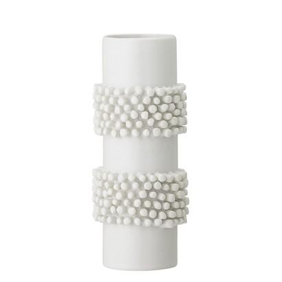 Vase aus Steingut, weiß